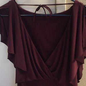 Jessica Simpson plum dress